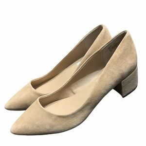 Steve Madden Leather  Chucky Nude Pumps